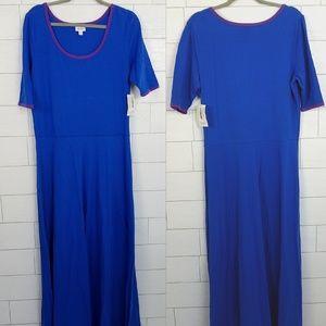 LuLaRoe Ana Dress size 3XL Blue & Purple NWT LLR